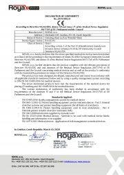 Declaration of Conformity for Transfer Sheet