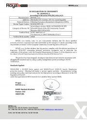 Declaration of Conformity_FFP1 Respirators