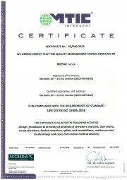 New ISO certificate 13485-Royax