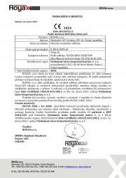 EU Declaration of Conformity -FFP2-Czech version