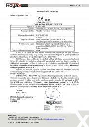 EU Declaration of Conformity -FFP3-Czech version